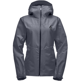 Black Diamond Liquid Point Chaqueta Shell Mujer, carbon